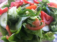 produce(0.0), spinach salad(1.0), salad(1.0), vegetable(1.0), leaf vegetable(1.0), greek salad(1.0), food(1.0), dish(1.0), cuisine(1.0),