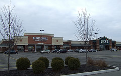"empirestatefuture posted a photo:	This ""Towne Center"" is actually well outside the Town of Webster's center, which is the Village of Webster, which struggles to survive the competition from the development in the Town beyond its borders. This is an example of ""SWOG,"" or sprawl without population growth, in Upstate New York."