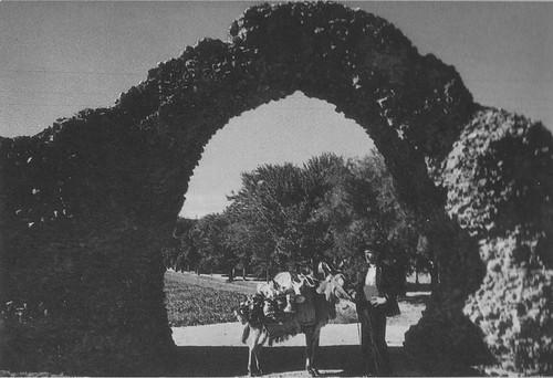 Restos del Circo Romano de Toledo a mediados del siglo XX. Foto Arribas