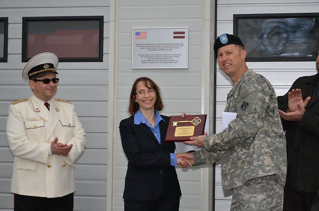 USACE Europe District presents plaque U.S. Ambassador to ...
