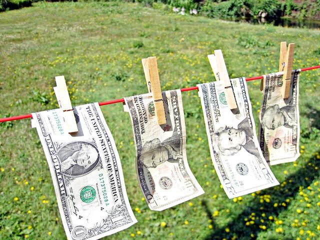 Laundering Dollar Bills