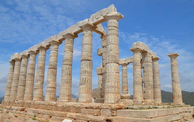 Temple of Poseidon, built around 444 - 440 BC, Cape Sounion, Greece