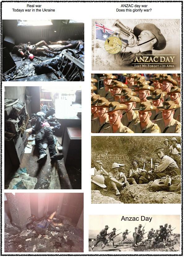 ANZAC glorify war