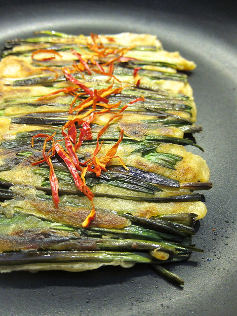 Pajeon — Korean Pancakes with Green Garlic