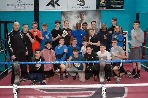 Boxing - Chris Eubank and the students