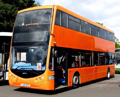 YJ65 EPU 'Optare'  Optare MetroDecker demonstrator on 'Dennis Basford's railsroadsrunway.blogspot.co.uk'
