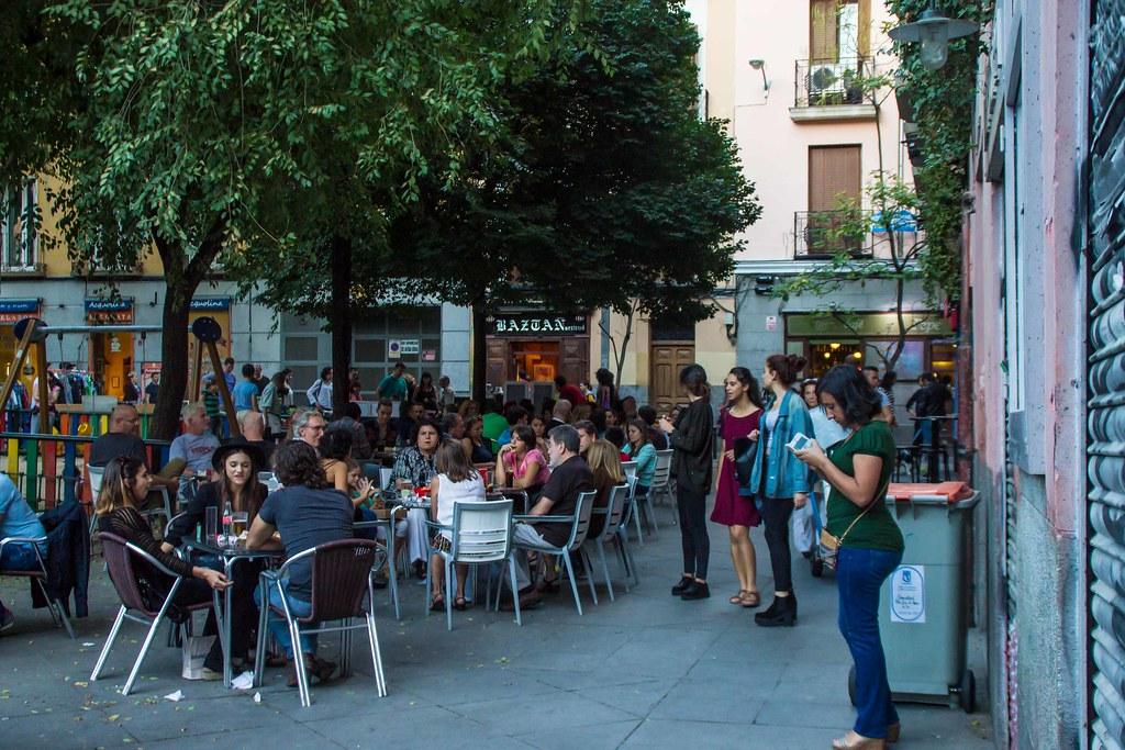 Terraza Terraza De La Plaza 2 De Mayo En Madrid Juan