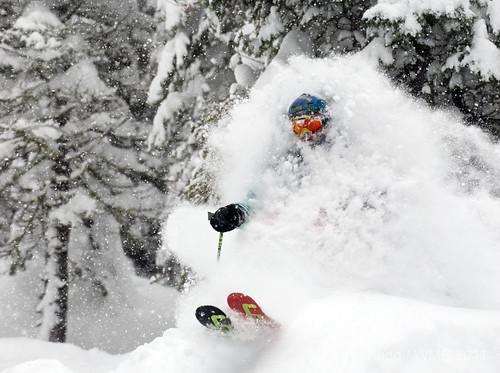 Squaw Valley powder skier