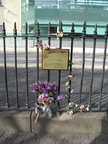 Memorial to Nicola Cox