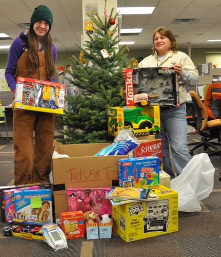 Toys For Tots Food : Beetle eradication staff helps community with toy and food