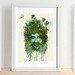Supernature Green Man - Art Print of illustration 21x29.7cm (A4) - JimmyTan