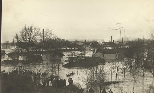 Looking north from the Montgomery County Fairgrounds, 1913 (Image courtesy of Dayton Metro Library, Montgomery County Picture File #911)