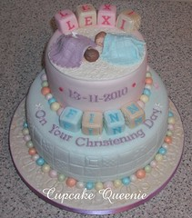 Lalaloopsy Birthday Cake on Lexi   Finn Christening Cake  Two Tiers   Front View