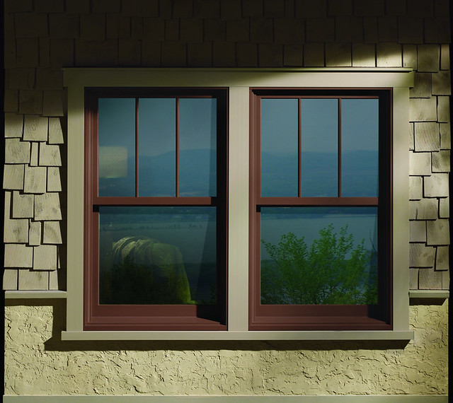 A series double hung windows with exterior trim flickr for Exterior window design