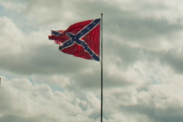 how to draw a rebel flag blowing in the wind