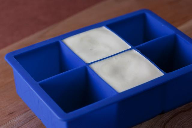 Vegan Butter in a mold