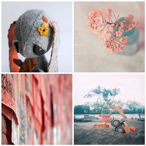 colour palette : coral and slate - curated by Emma Lamb