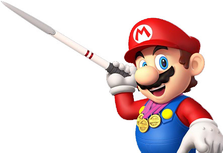 Mario and Sonic at the 2012 London Olympics render