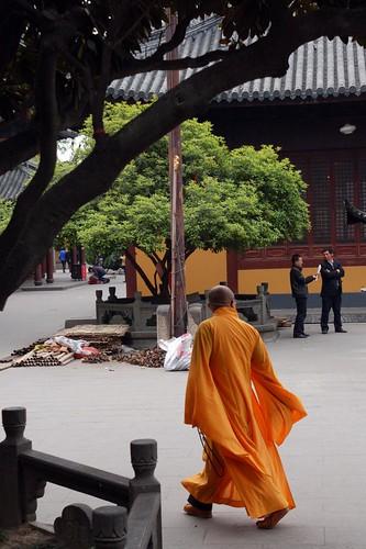 Strolling monk