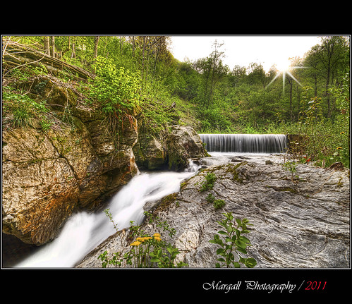 The fast water of the mountain - HDR