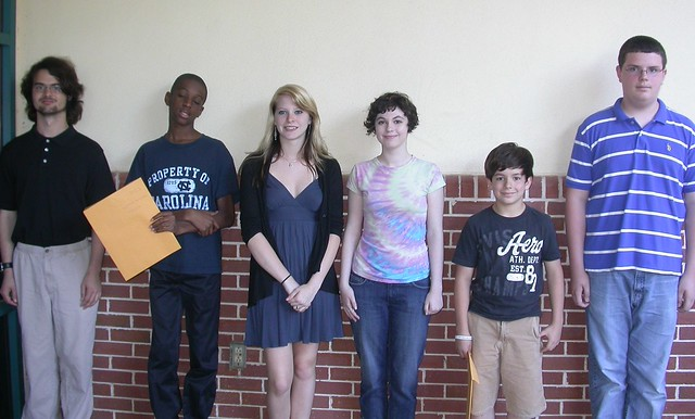 8th Annual Teen Poetry Contest Winners. From Left to Right:
