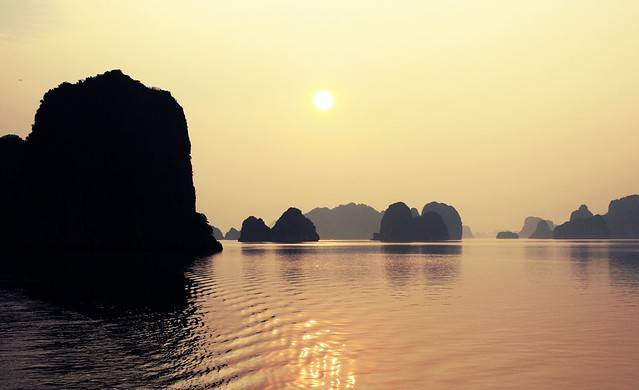 Sunset, Halong Bay