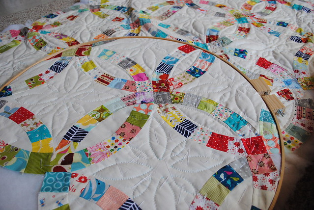 Flowers For My Wedding Ring Quilt Template