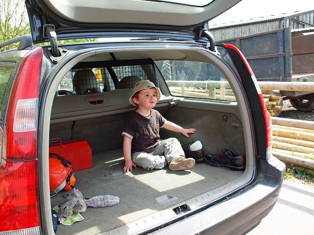Josh in a random car boot