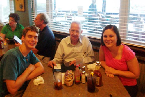 Diner with Grandpa Burch in Slidell