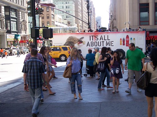 People at a crosswalk, Manhattan