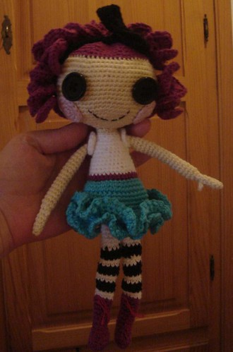 Crochet Pattern Human Doll : just another doll - free crochet pattern lalaloopsy like ...