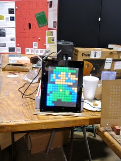 Maker Faire NC: Luigi light display (animated)