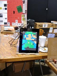 Maker Faire NC: Luigi light display (animated)
