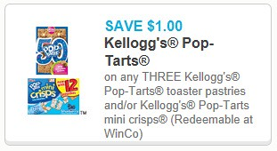 photo about Printable Dollar Tree Coupons named Kelloggs Pop Tarts 0.33 at Greenback Tree with Contemporary Printable