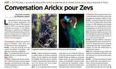 CONVERSATION ARICKX POUR ZEVS - 20 MINUTES