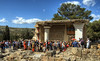 Tourists at Knossos in Crete