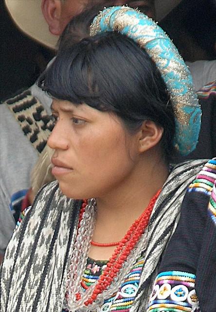 Retrato de una mujer - Portrait of a Woman; Fiesta del pueblo, Joyabaj, El Quiché, Guatemala