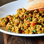 Spicy egg bhurji @ the eggfactory