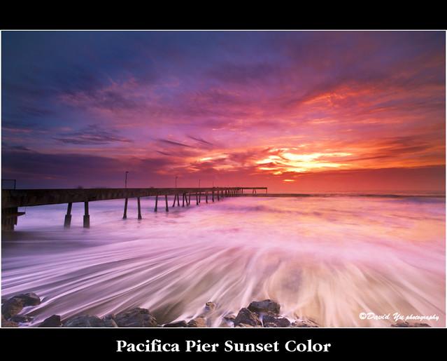 Pacifica Pier Sunset Color