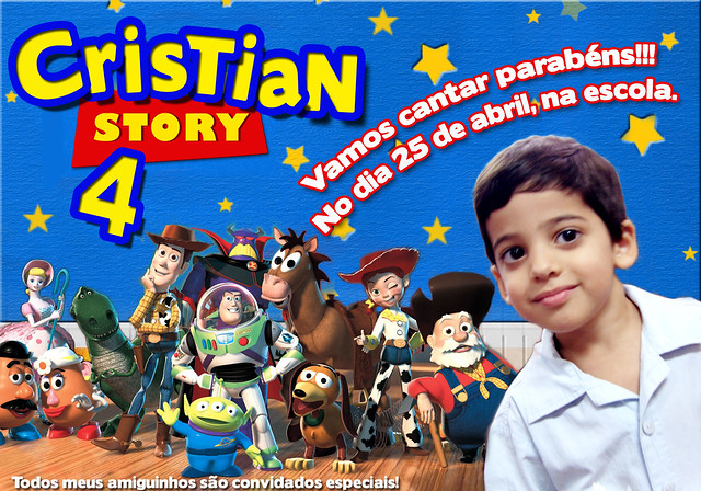 Convite Cris Story   Toy Story
