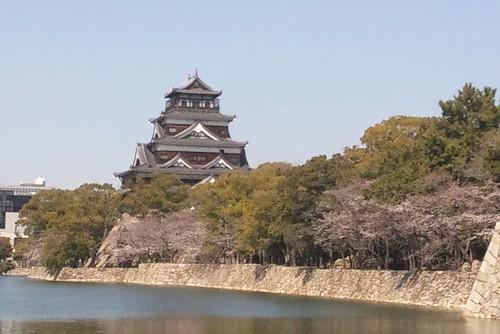広島城が一番きれいに見える位置から