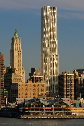 New York by Gehry - East River's Morning Light