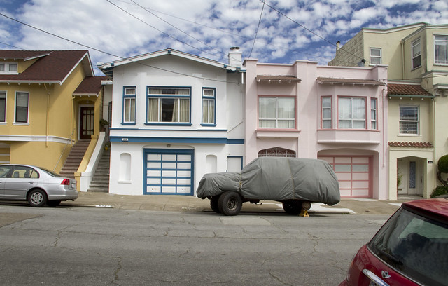 Covered truck on 21st ave; The Richmond, San Francisco (2011)