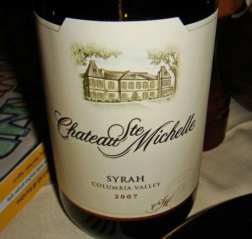 Chateau Ste. Michelle Syrah (dinner)