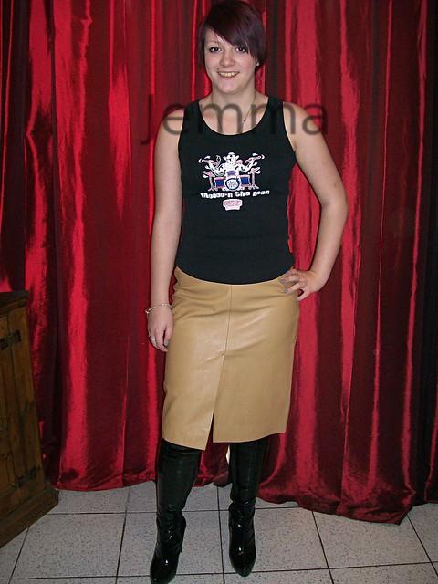 leather skirt ebay flickr photo