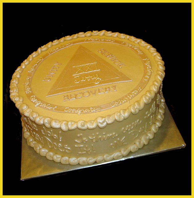 Alcoholics Anonymous Birthday Cake