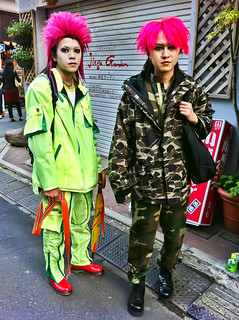 Red Eraserhead Hair in Harajuku