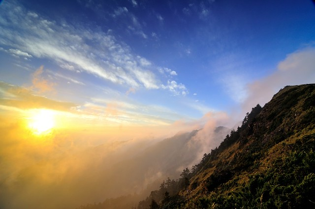 Sunset in Mt. Hehuan-1合歡夕照