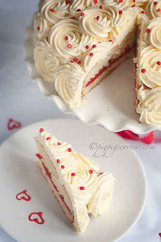 Lemon Rose Cake with Strawberry Gelée 2