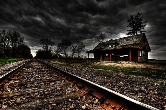 Abandoned train station flickr photo sharing for Railroad stations for sale